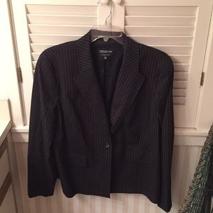 Jones New York Black w/whited pinstripes blazer